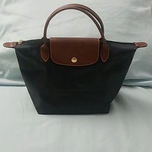Longchamp small Le foliage top handle bag